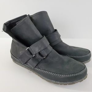 Sorel Yaquina Moc Booties Gray Leather Ankle High